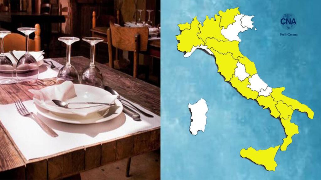 Regioni in zona bianca: al massimo in 6 per tavolo al chiuso